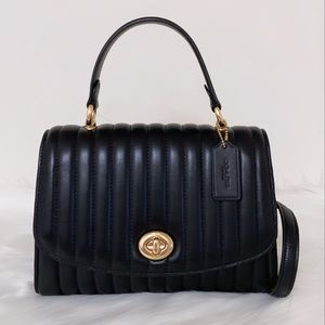 New💃Coach Tilly Top Handle With Linear Quilting